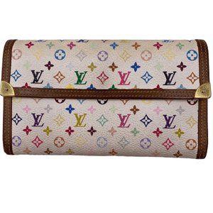 Authentic Louis Vuitton Multicolor Long Wallet
